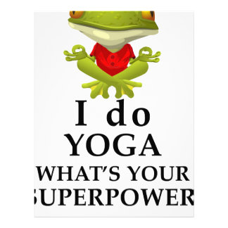 i do yoga what s your super power letterhead