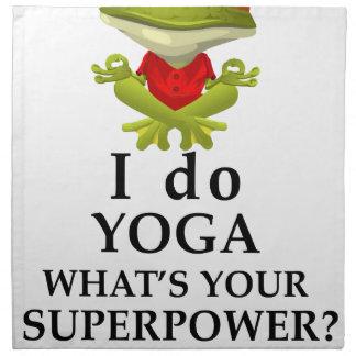 i do yoga what s your super power napkin