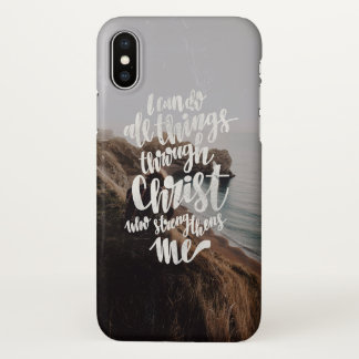 I dog do all thing through Christ iPhone X Case