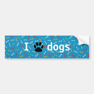 I 🖤 dogs bumper sticker