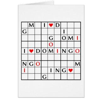 I♥DOMINGO CARD