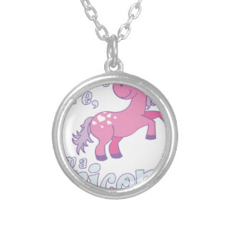 i don´t care i´m a unicorn silver plated necklace