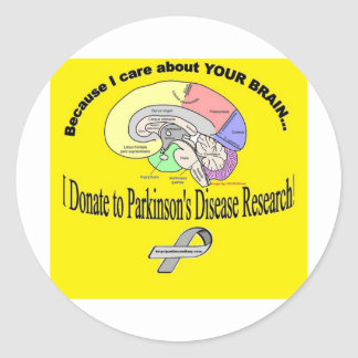 I Donated to PD Research Round Sticker