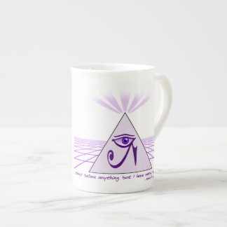 """I don't believe anything, but..."" Bone China Mug"