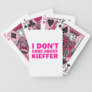 I Don't Care About Kieffer! Bicycle Playing Cards