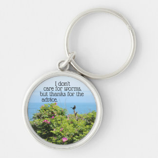 I don't care for worms keychain