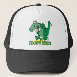 i dont care t-rex temper tantrum trucker hat