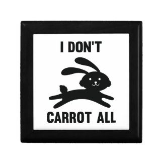 I Don't Carrot All Trinket Boxes