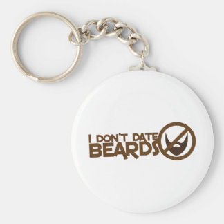 I dont date beards key chains