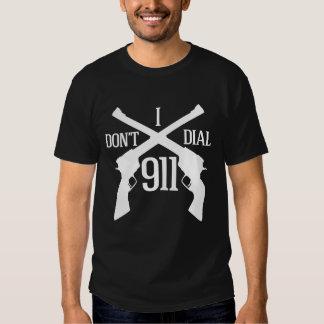 I Don't Dial 911 - Dark Tshirts