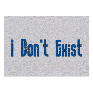 I Don't Exist Business Card