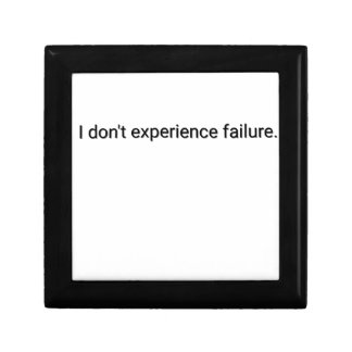 I dont experience failure gift box