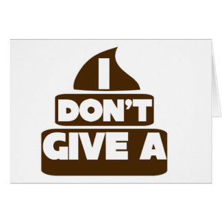 I don't give a POO Stationery Note Card