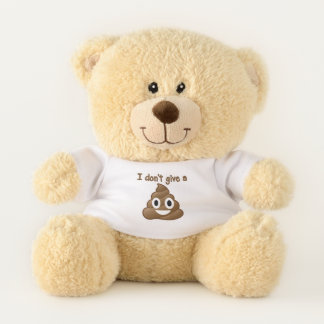 I Don't Give A Poo (emoji) Teddy Bear