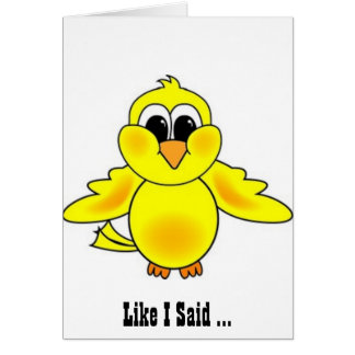 I don't give a Tweet!- Funny Birthday Greeting Car Card