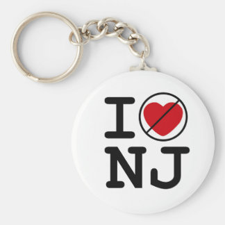 I Don't Heart New Jersey Basic Round Button Keychain