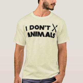 i don't knifefork animals T-Shirt