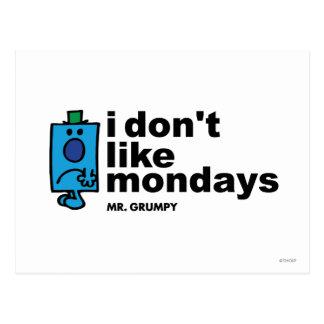 I Don't Like Mondays Postcards