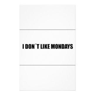 I dont like mondays stationery