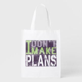 I Dont Make Plans Grocery Bag