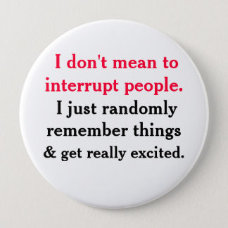 I don't mean to interrupt People Button