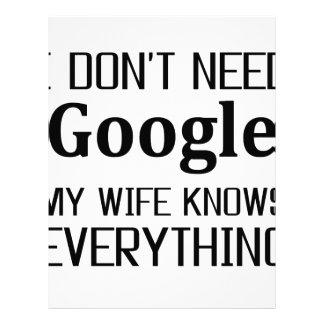 I Don't Need Google Letterhead