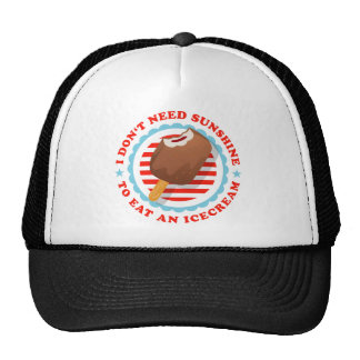 I don't need sunshine tons eat icecream trucker hat