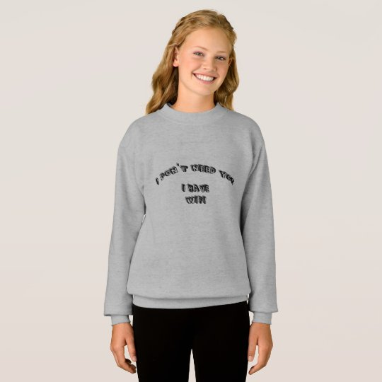 I don't need wifi sweatshirt