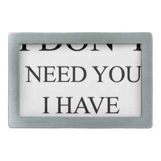 i don't need you i have wife rectangular belt buckles