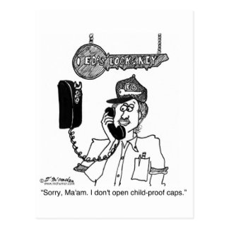 I Don't Open Child-Proof Caps Postcard