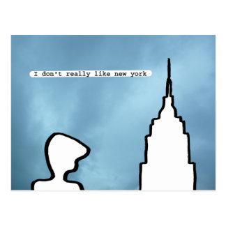 i don't really like new york postcard