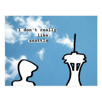 I don't really like seattle postcard