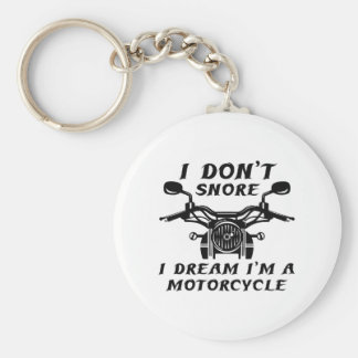 I Don't Snore Basic Round Button Keychain