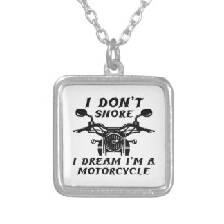 I Don't Snore Silver Plated Necklace