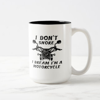 I Don't Snore Two-Tone Coffee Mug