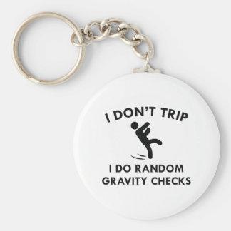 I Don't Trip Basic Round Button Keychain