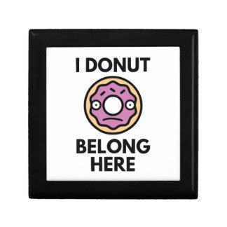I Donut Belong Here Gift Box