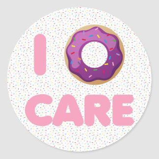 I Donut Care Classic Round Sticker