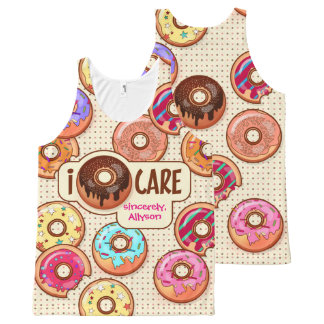 I Donut Care Cute Funny Humorous Sweet Donuts Love All-Over-Print Tank Top