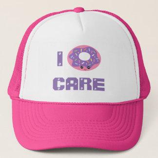 I donut care cute kawaii doughnut pun emoji trucker hat