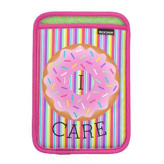 I Donut Care Stripes Sprinkle Mini iPad Sleeve