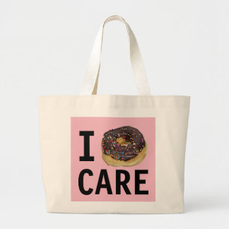 I DONUT CARE TOTE purse bag