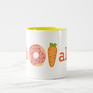 I donut carrot all funny cup