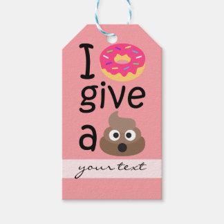 I donut give a poop emoji gift tags