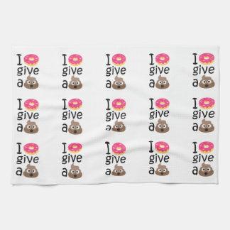 I donut give a poop emoji kitchen towel