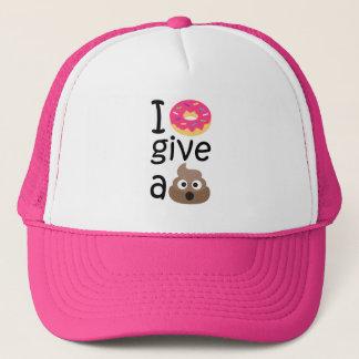 I donut give a poop emoji trucker hat