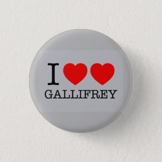 I Double Heart Gallifrey 1 Inch Round Button