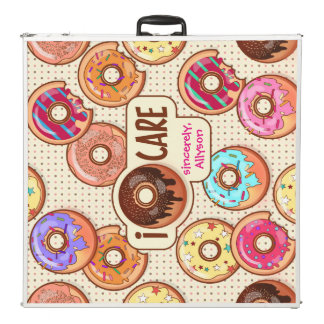 I Doughnut Care Cute Funny Donut Sweet Treats Love Beer Pong Table