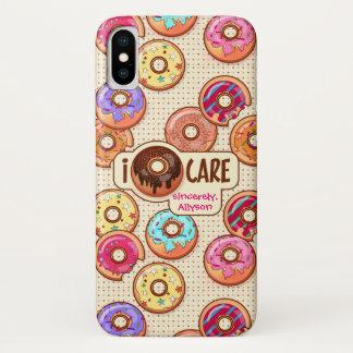 I Doughnut Care Cute Funny Donut Sweet Treats Love Case-Mate iPhone Case