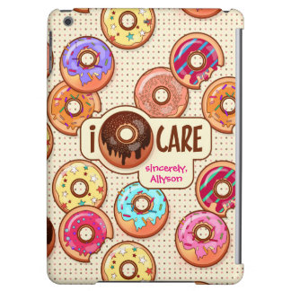I Doughnut Care Cute Funny Donut Sweet Treats Love Cover For iPad Air